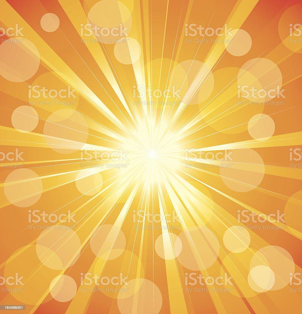 Abstract sun background vector art illustration