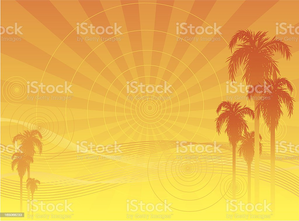 abstract sunset royalty-free stock vector art