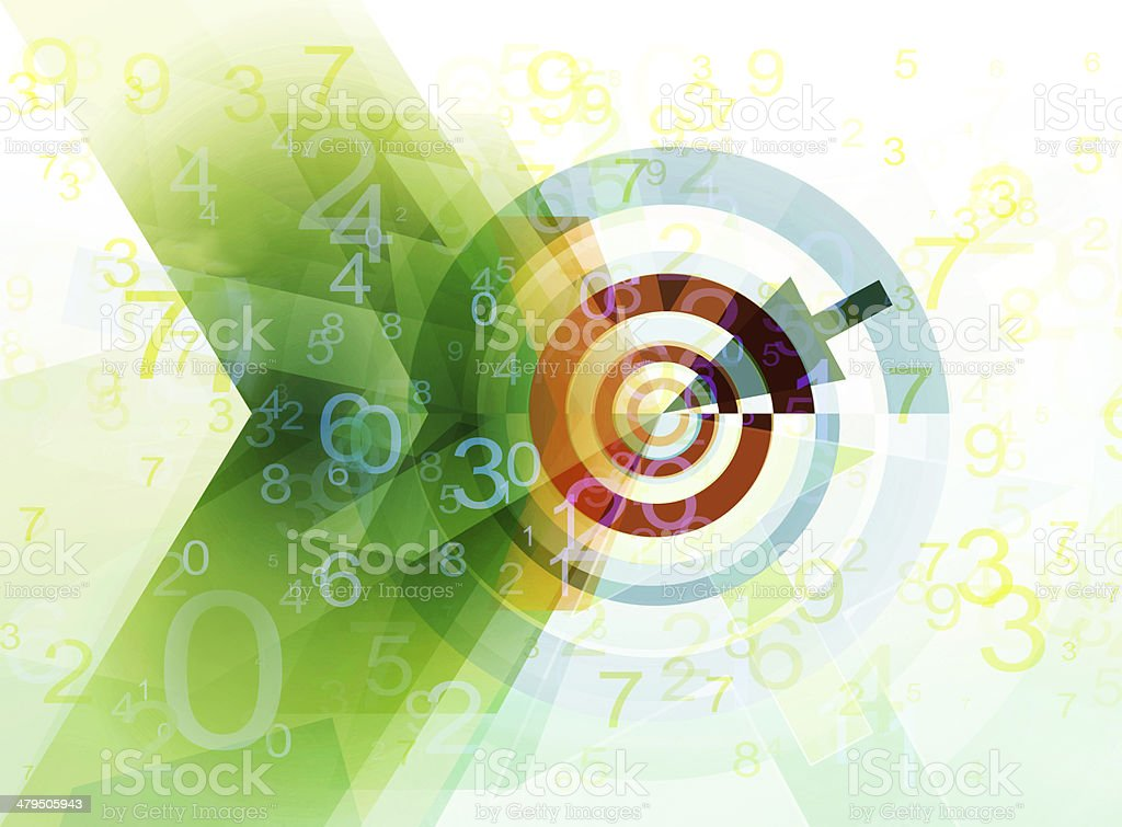 abstract target concept vector art illustration