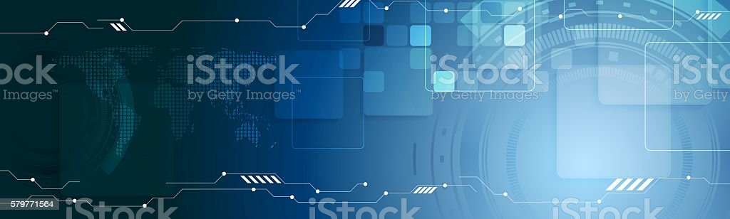 Abstract technology web header banner vector art illustration