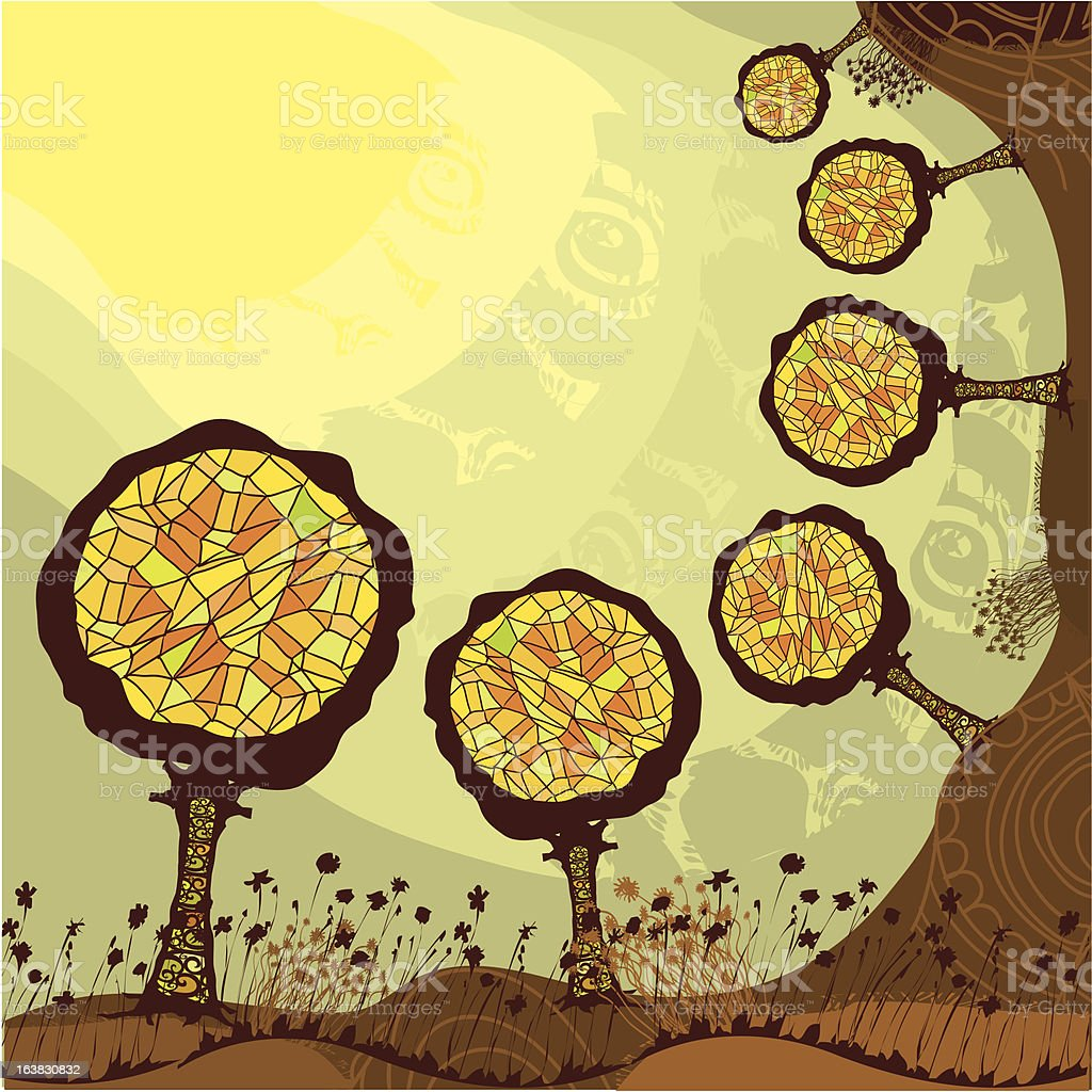 abstract trees royalty-free stock vector art