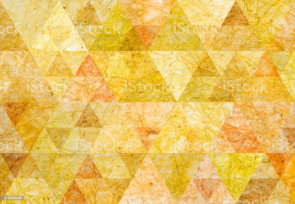 Abstract triangle shaped background: Patterned paper background vector art illustration