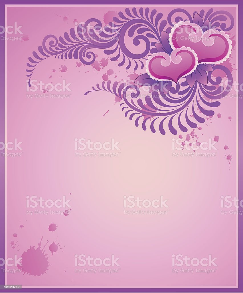 Abstract Valentine background with Hearts. royalty-free stock vector art