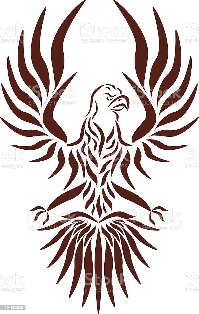 Abstract vector eagle vector art illustration