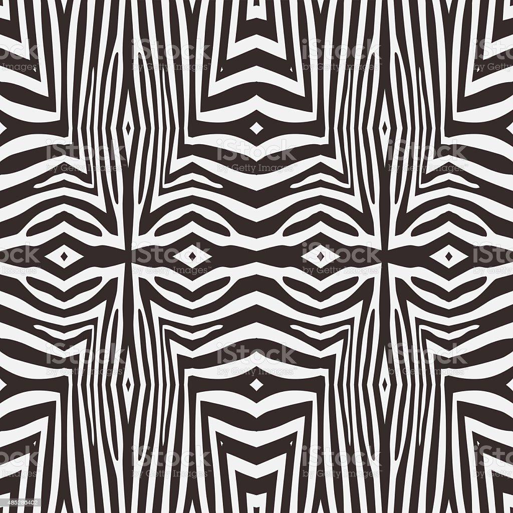 Abstract vector zebra seamless background vector art illustration