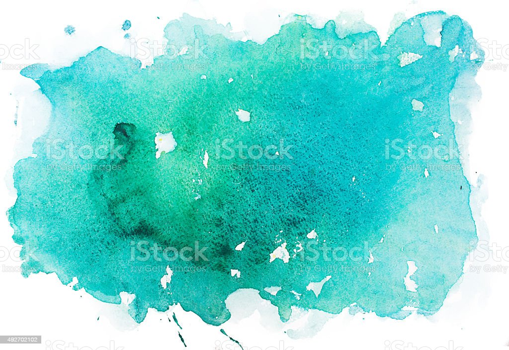 Abstract watercolor aquarelle paint hand drawn colorful splatter stain stock photo