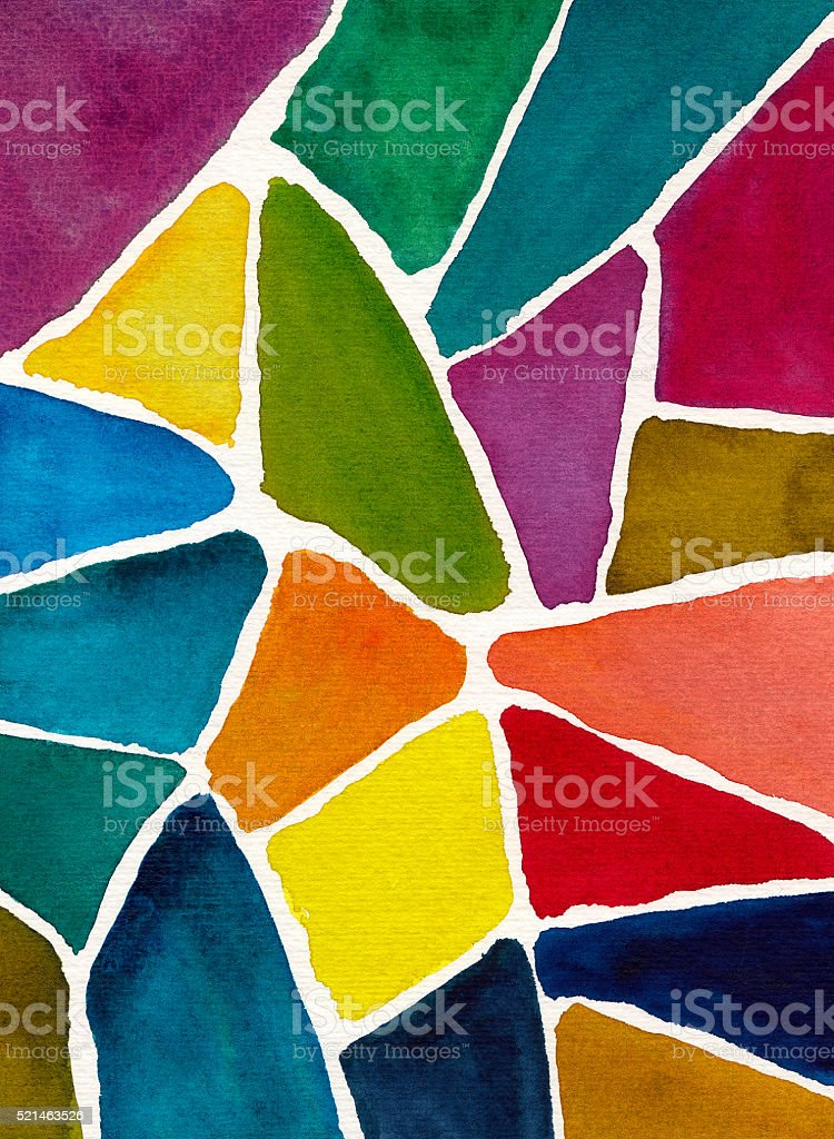 abstract watercolor background design mosaic vector art illustration
