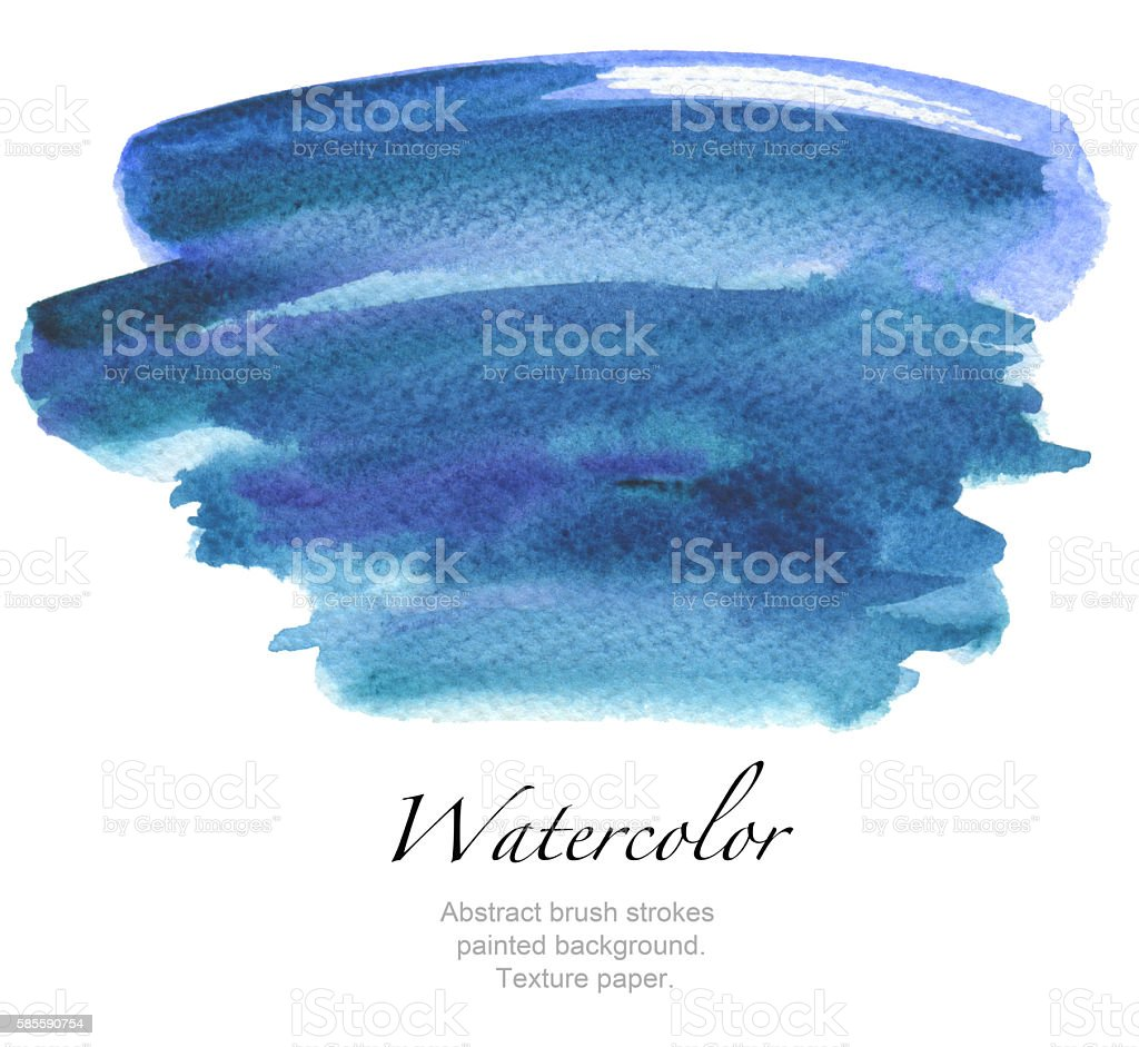 Abstract watercolor brush strokes painted background. vector art illustration