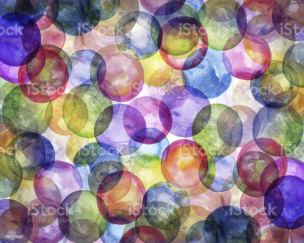 Abstract Watercolor Circles Background royalty-free stock vector art