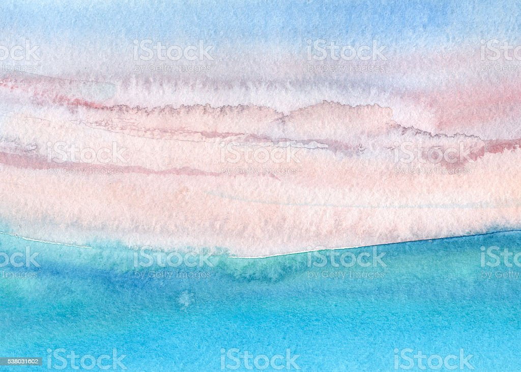 abstract watercolor landscape vector art illustration