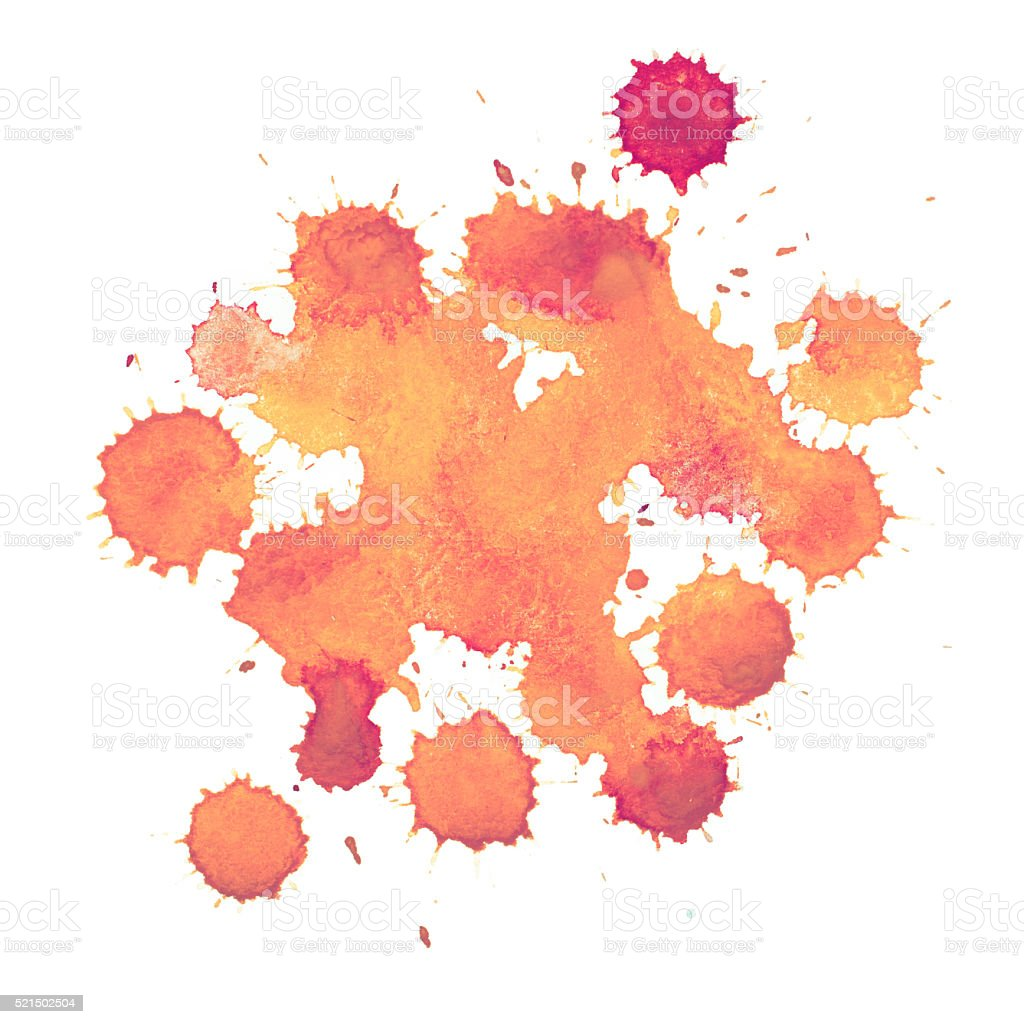 Abstract watercolor paint aquarelle hand drawn colorful splatter stain vector art illustration