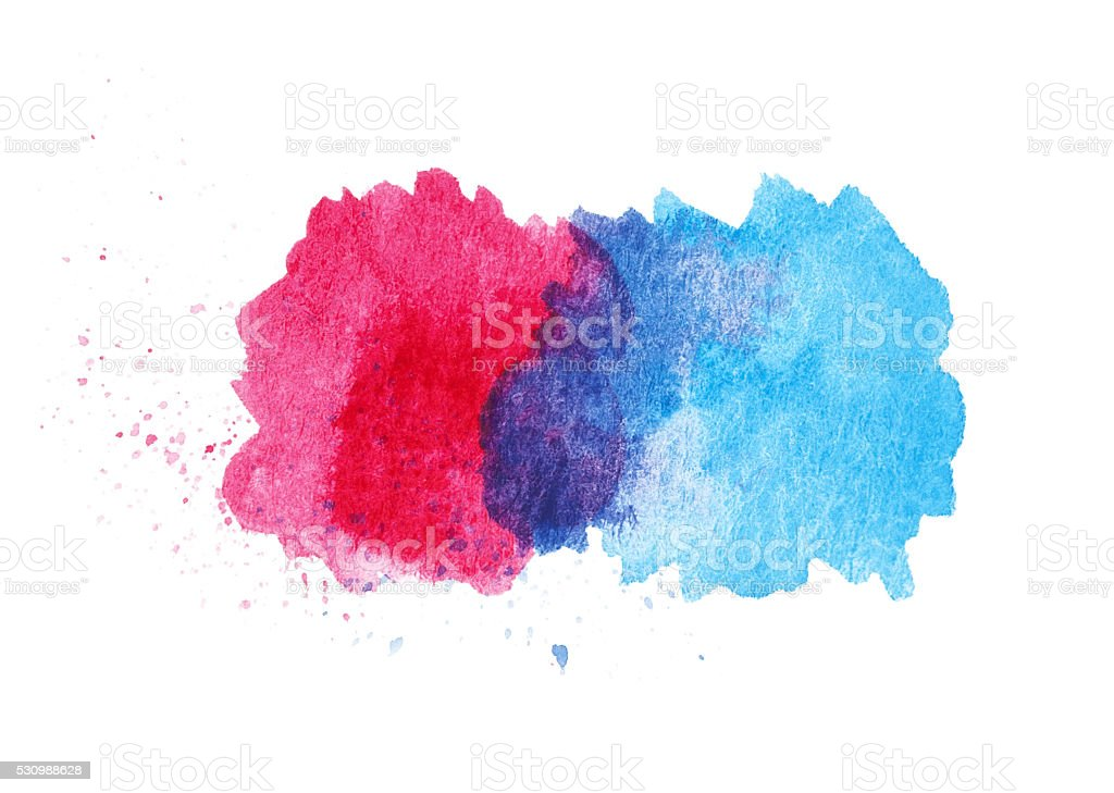 Abstract Watercolor paint Splatter stock photo
