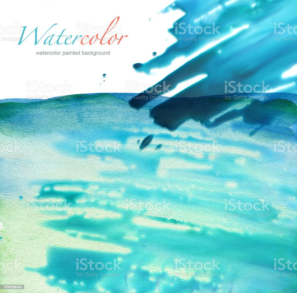 Abstract watercolor painted background vector art illustration