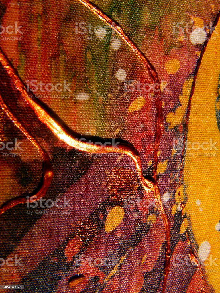 Abstract watercolor texture. Painted silk, batik textile vector art illustration