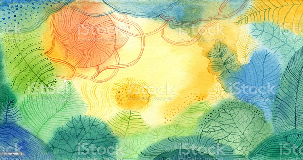 Abstract watercolour background vector art illustration