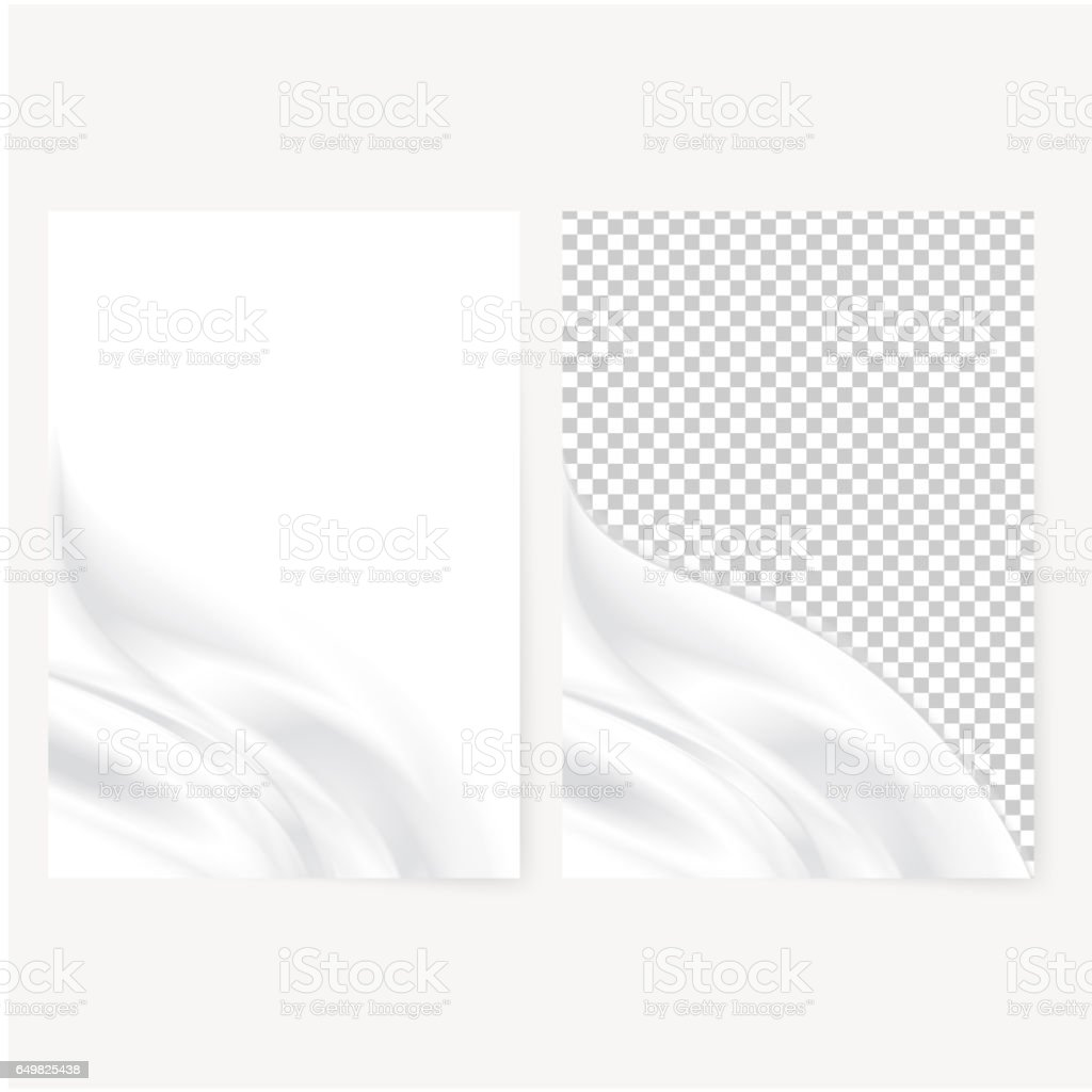 Abstract white template vector art illustration