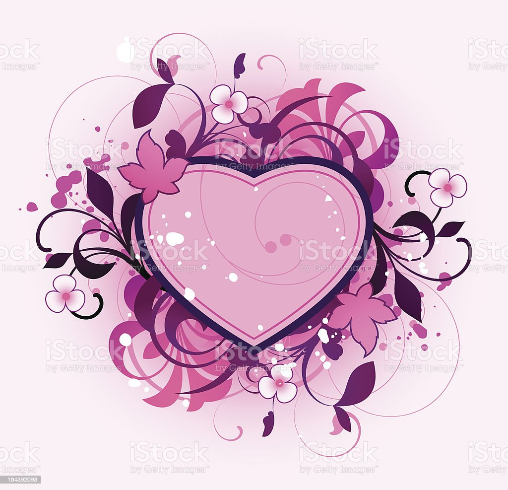Abstract with heart royalty-free stock vector art