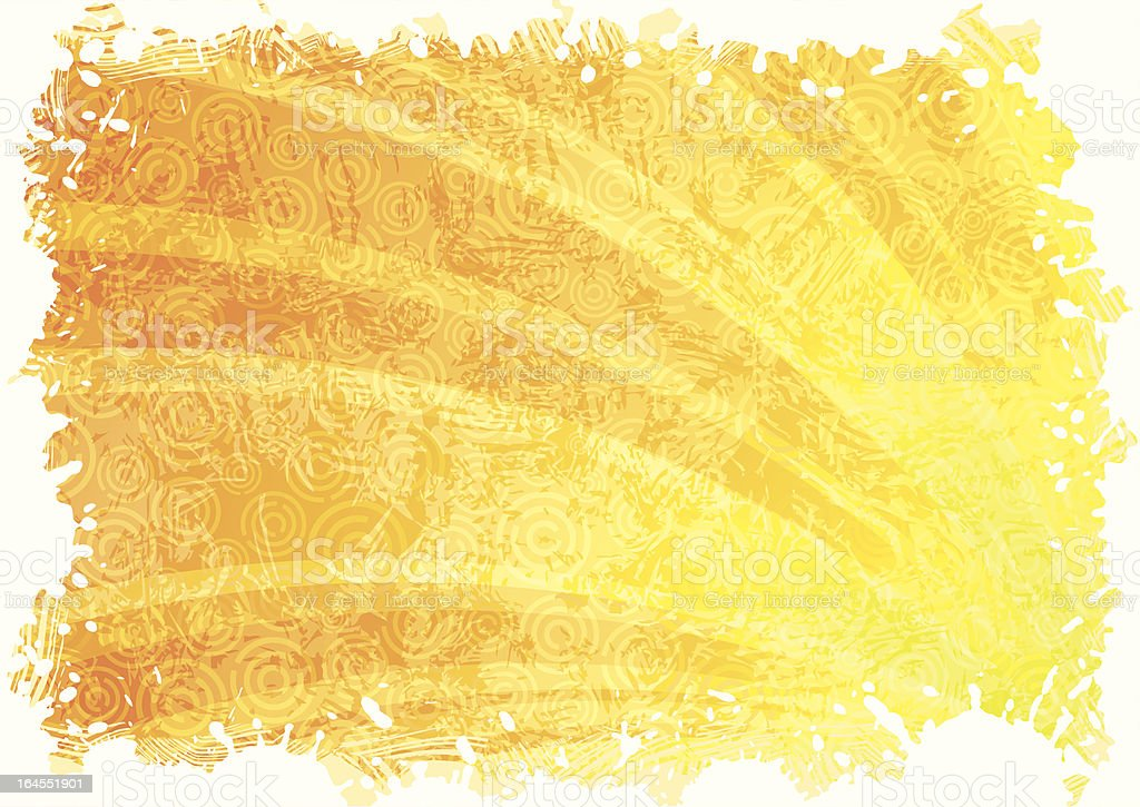 Abstract yellow background royalty-free stock vector art