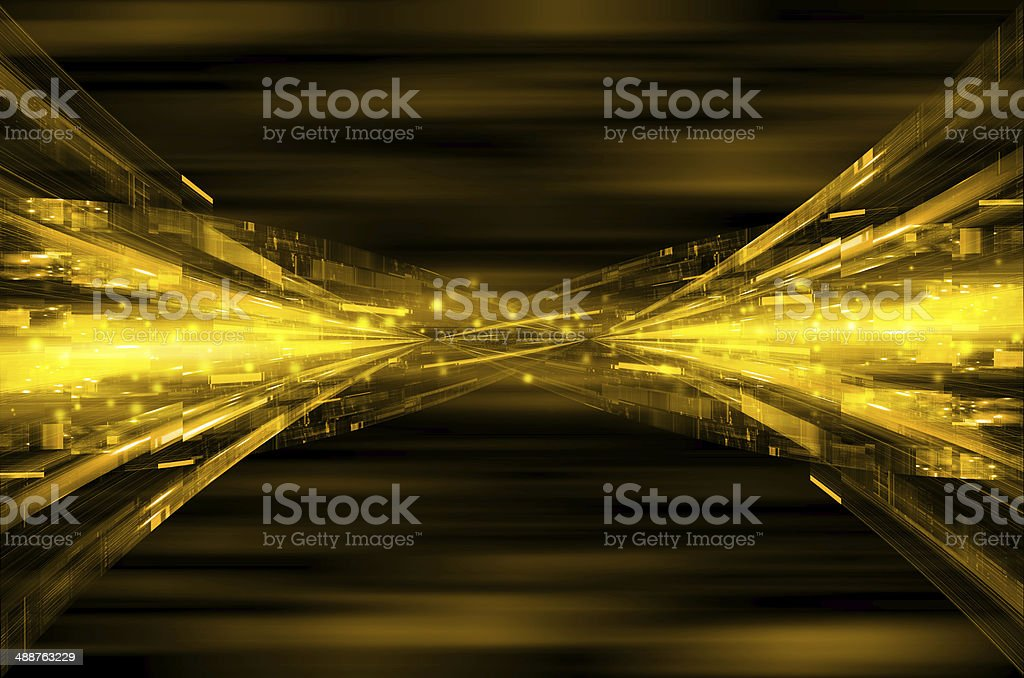 abstract yellow tech background. vector art illustration