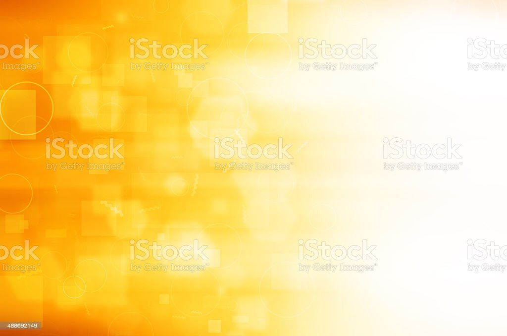 Abstract yellow technology background. stock photo