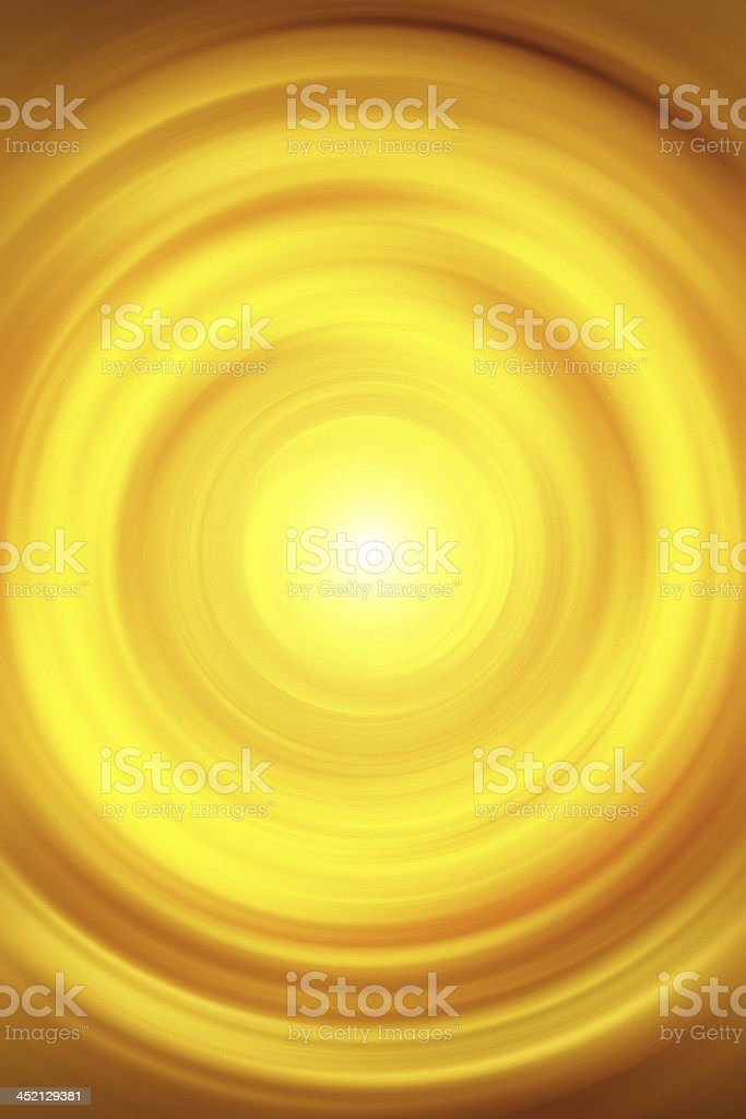 abstract yellow vortex vector art illustration