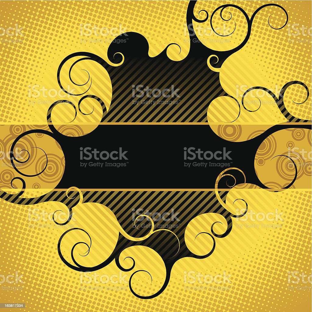 Abstract yellow-black background royalty-free stock vector art