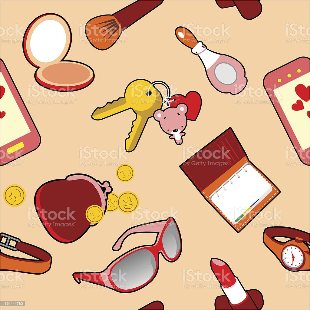 Accessories Seamless royalty-free stock vector art