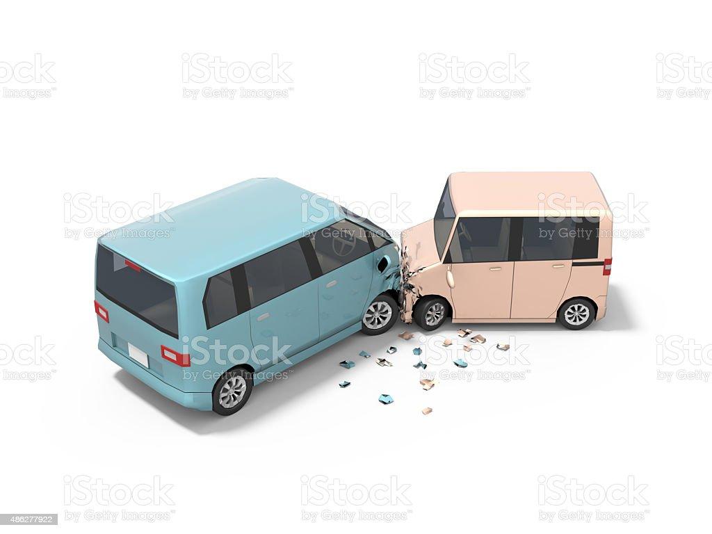 Accident of Car vector art illustration