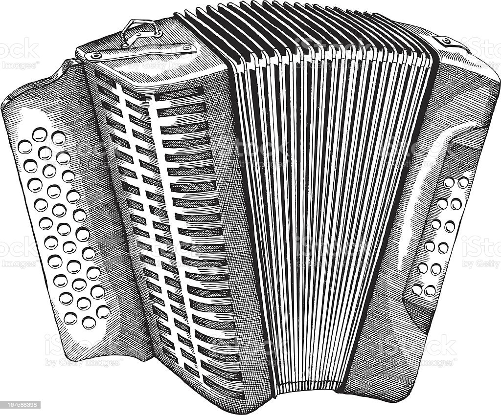 Accordion royalty-free stock vector art