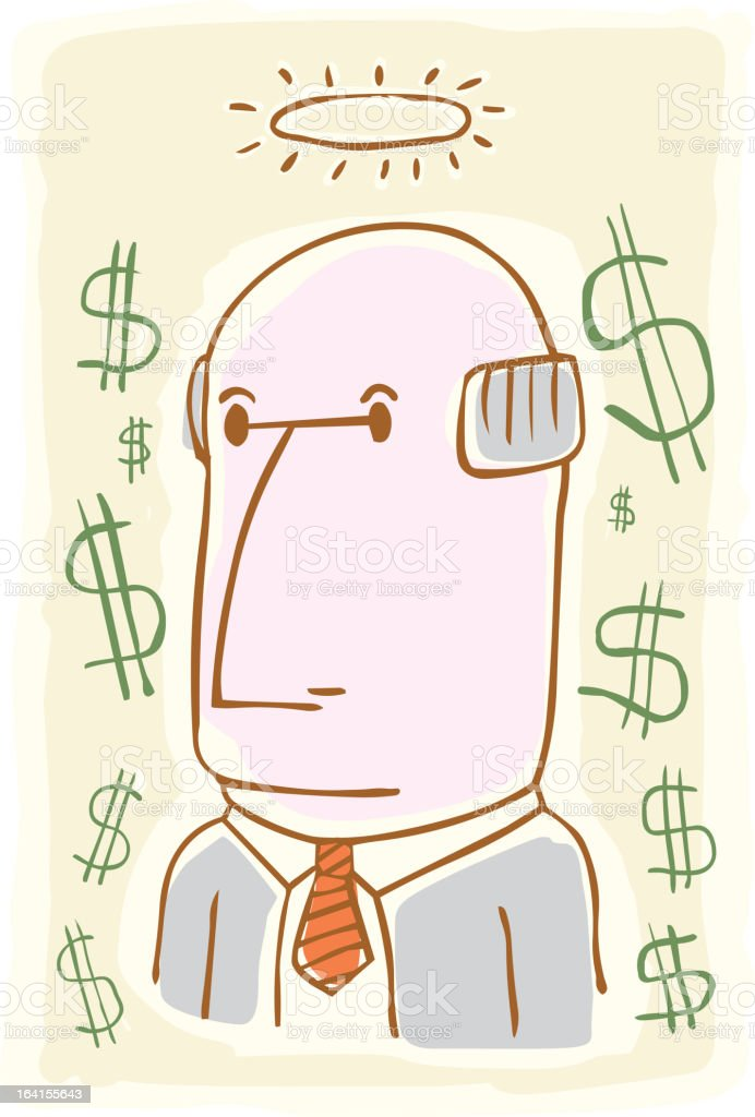 Accountant Angel royalty-free stock vector art