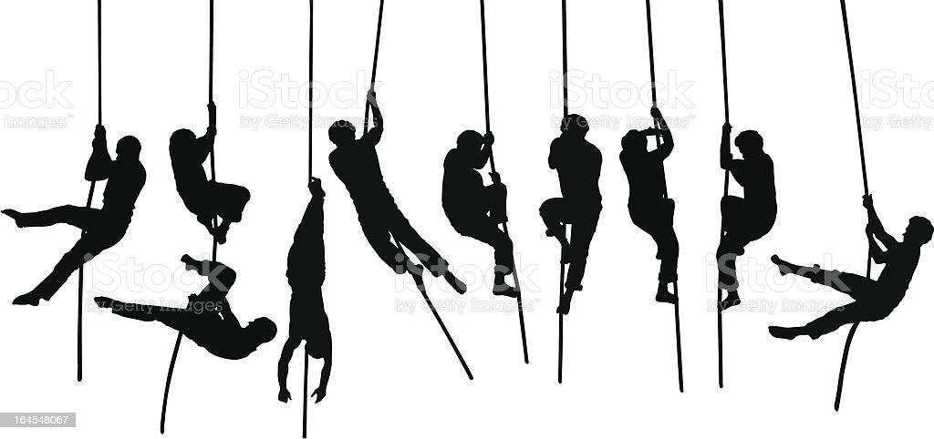 Acrobat silhouettes royalty-free stock vector art