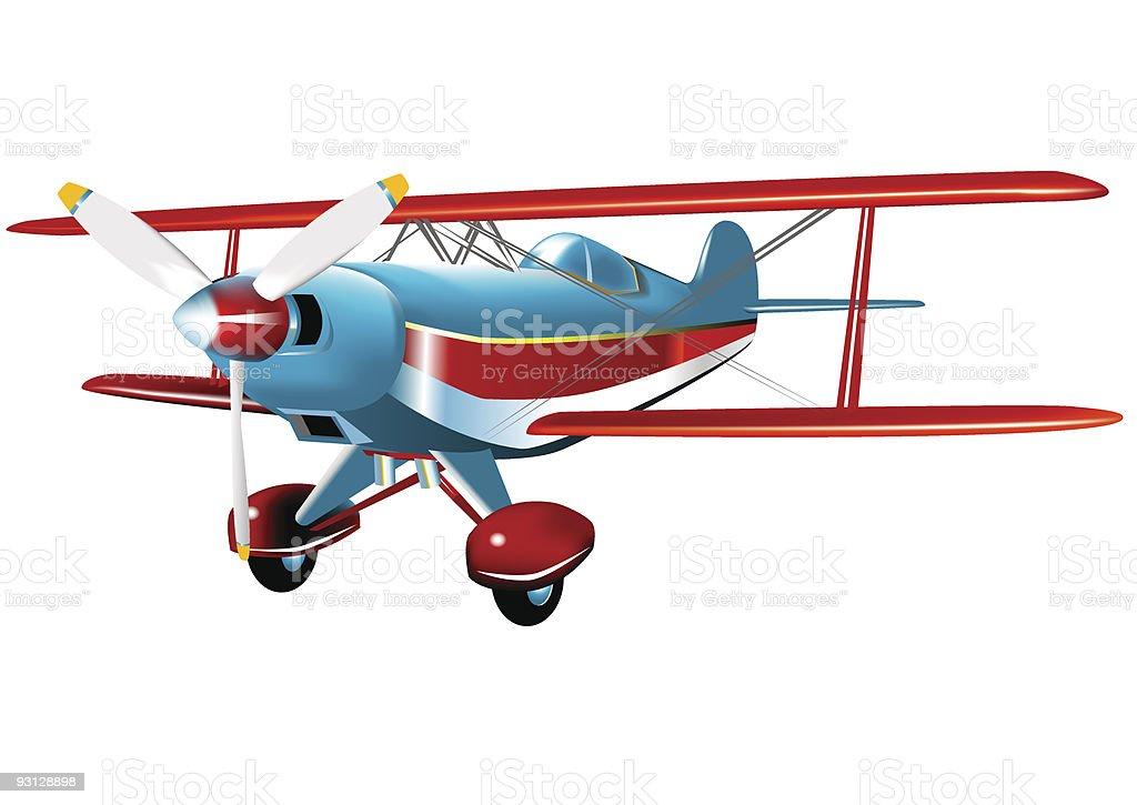 Acrobatic Aircraft royalty-free stock vector art