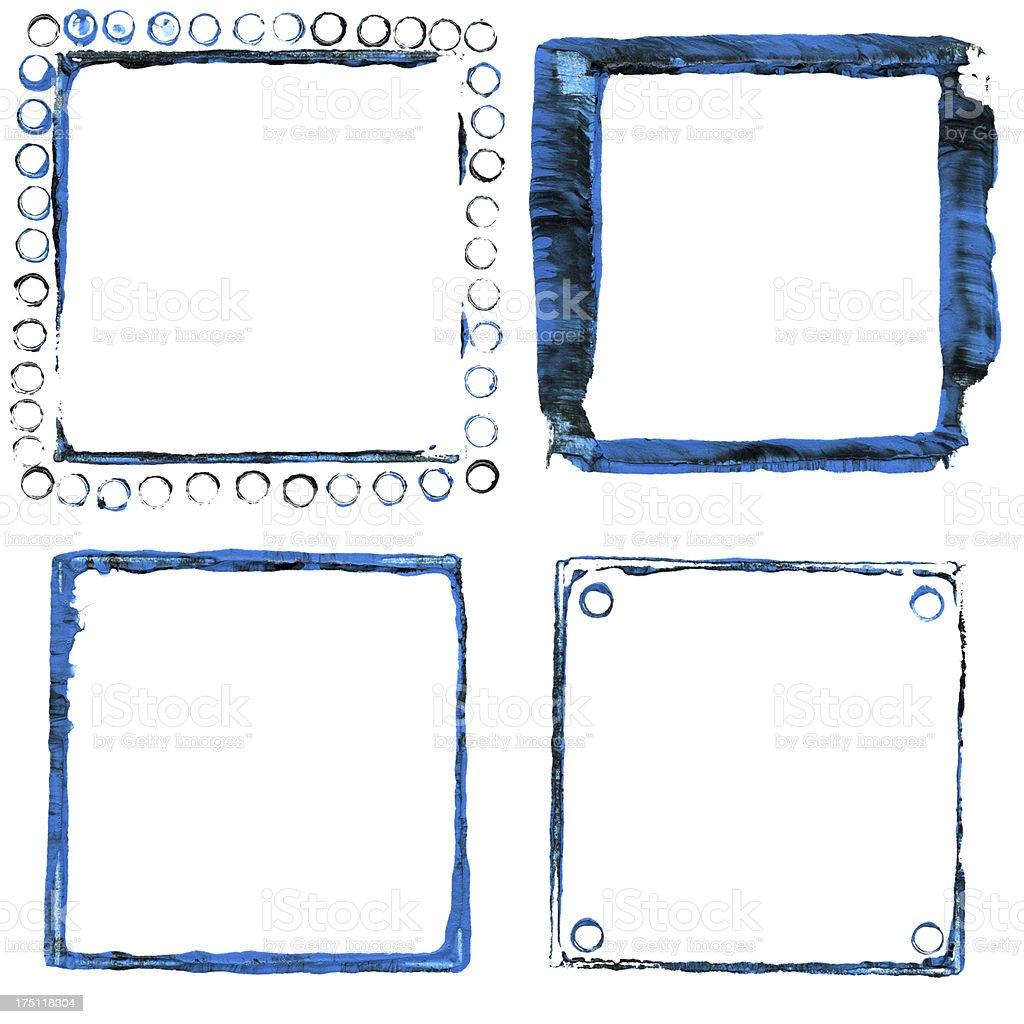 Acrylic paint frames royalty-free stock vector art