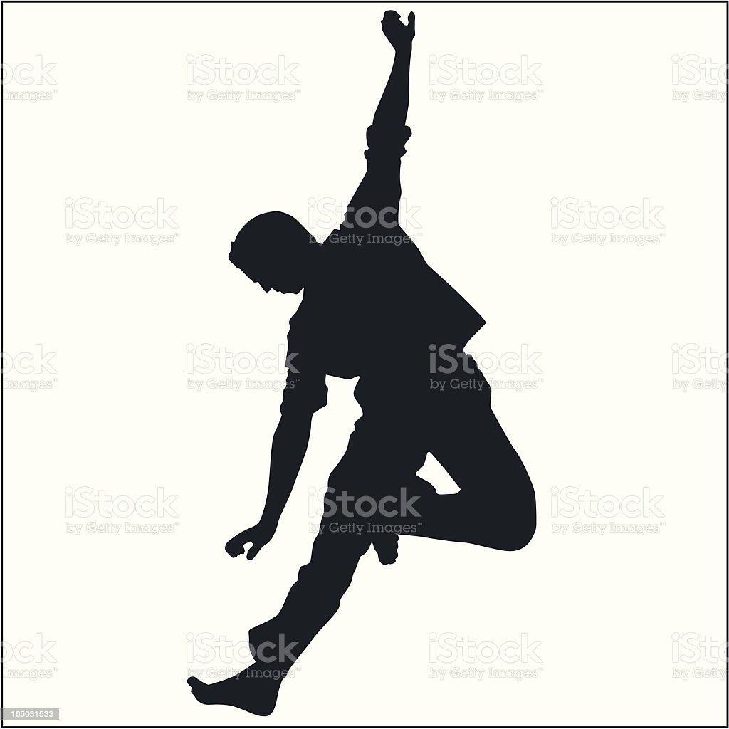 Action Posing Man 02 royalty-free stock vector art