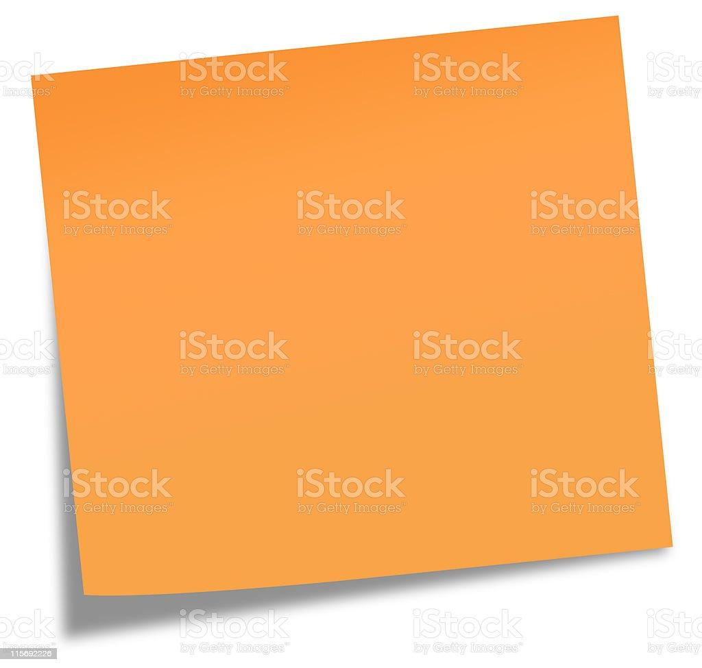 adhesive note vector art illustration
