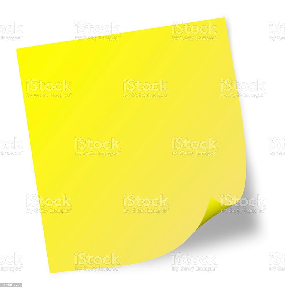 Adhesive note royalty-free stock vector art