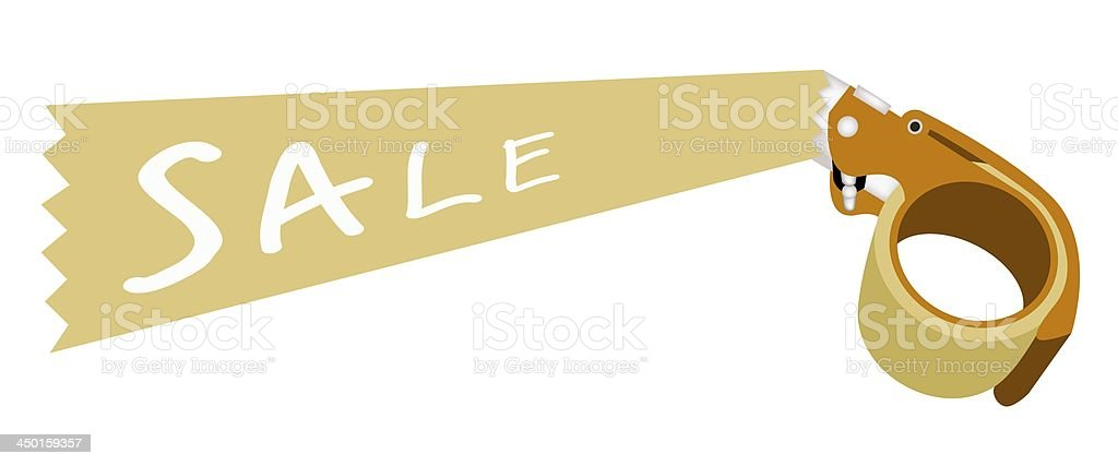 Adhesive Tape Dispenser With A Word Sale royalty-free stock vector art