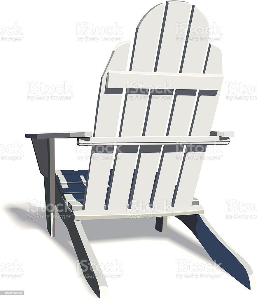 Adirondack Chair with soft shadow vector art illustration