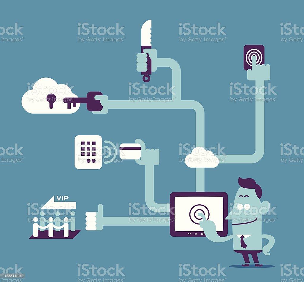Administrator and Power User vector art illustration