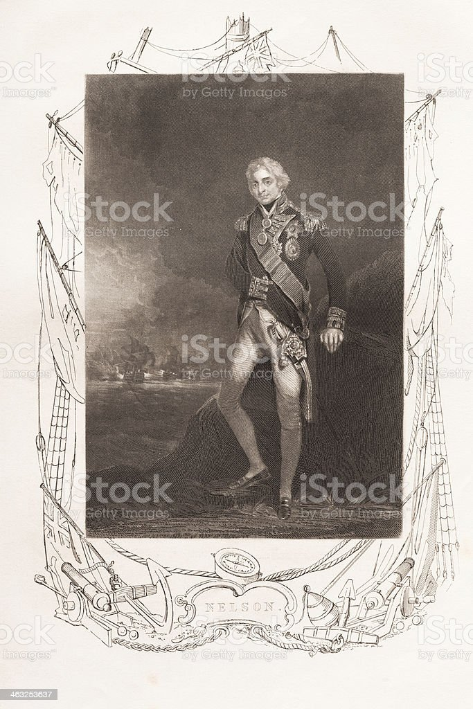 Admiral Horatio Lord Nelson 1850 royalty-free stock vector art