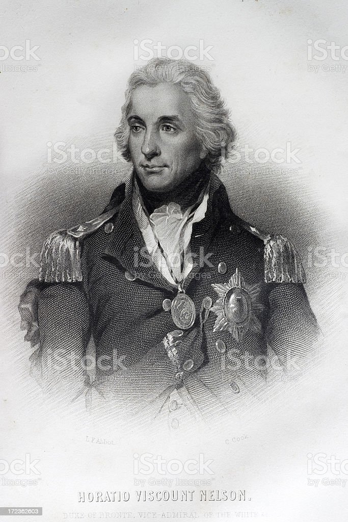 Admiral Horatio Nelson royalty-free stock vector art