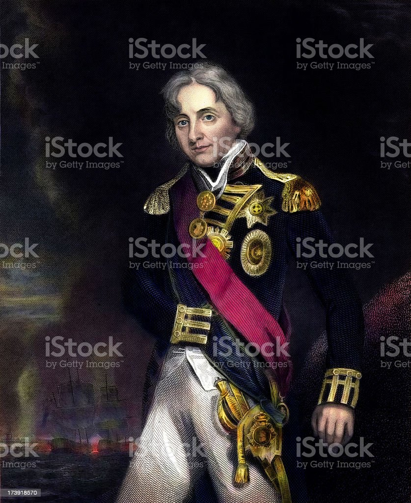 Admiral Horatio Nelson vector art illustration