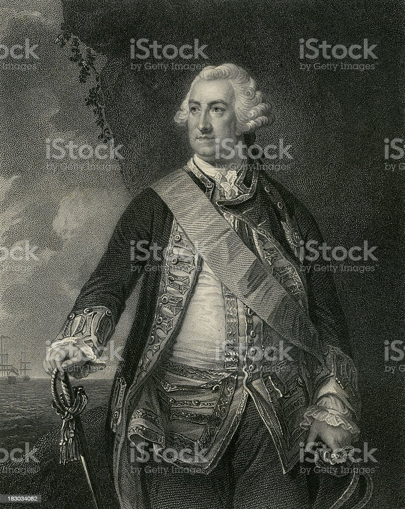Admiral Lord Hawke (XXXL) vector art illustration