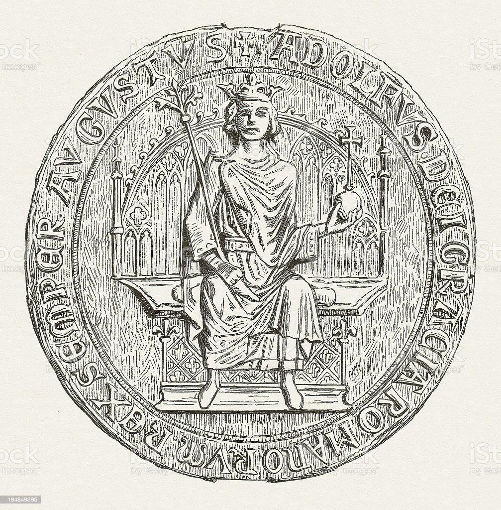 Adolf, King of Germany vector art illustration
