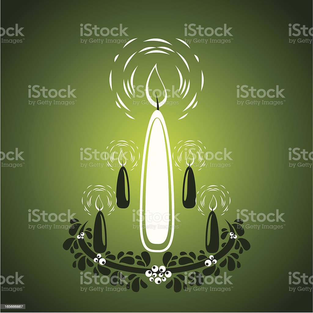 Advent candles royalty-free stock vector art