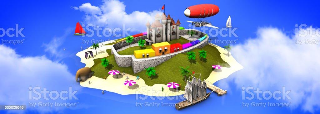 Adventure Island stock photo