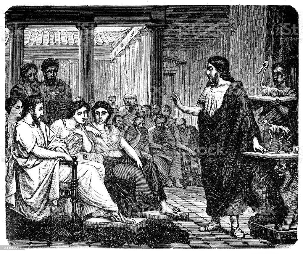 Aelius Galenus or Claudius Galenus vector art illustration