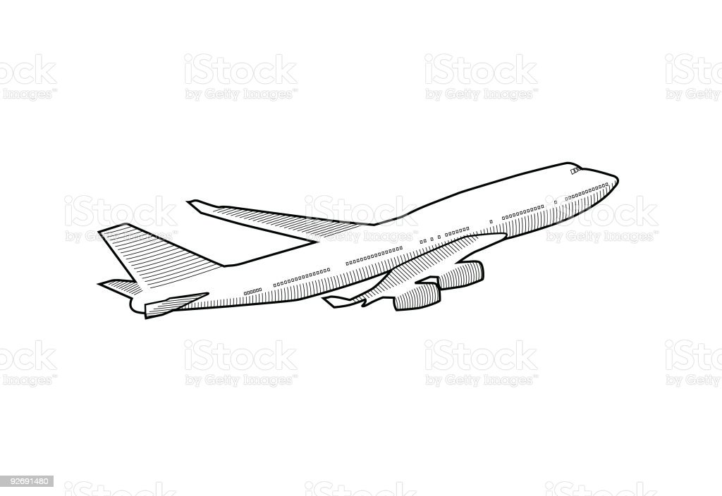 Aeroplane vector art illustration