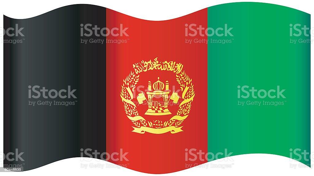 Afghanistan Flag royalty-free stock vector art