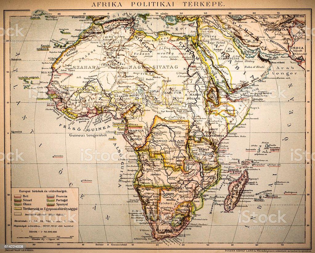 Africa Political Map vector art illustration